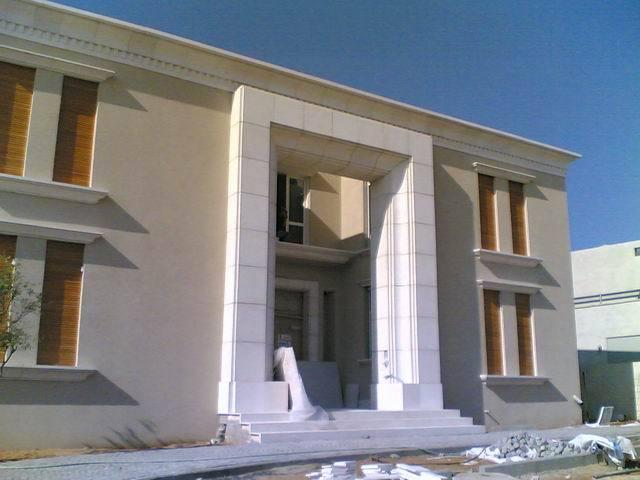 חיפוי אבן לבית בקיסריה בסגנון איטלקי