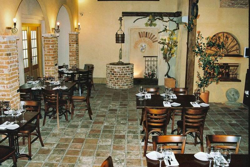 מסעדה עם ריצוף וחיפוי מפארק האבן